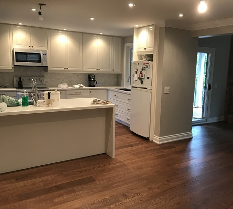 kitchen island installation