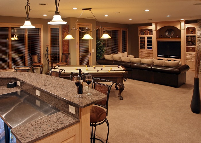 Basement Pool Table Man Cave