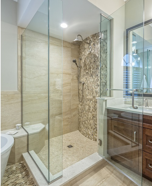 bathroom glass door shower